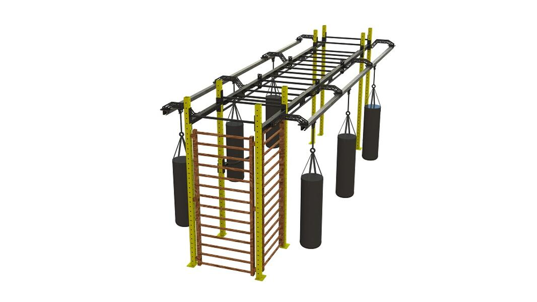Obstacle and ninja training multi rig